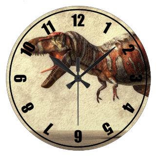 Tyrannosaurus Reloj Redondo Grande