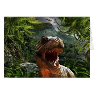 tyrannosaurus-rex-284554 tyrannosaurus rex dinosau greeting card
