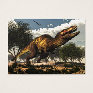 Tyrannosaurus rex and its eggs business card