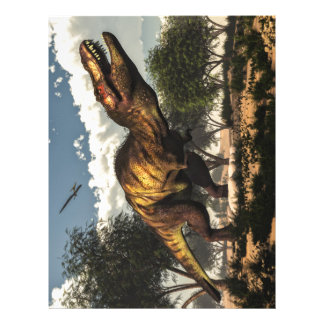 Tyrannosaurus rex and its eggs letterhead