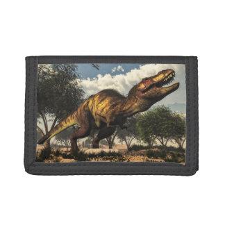 Tyrannosaurus rex and its eggs tri-fold wallets