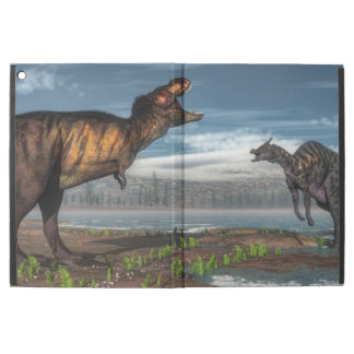 "Tyrannosaurus rex and saurolophus dinosaurs iPad pro 12.9"" case"