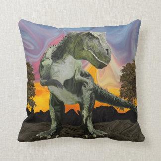 Tyrannosaurus Rex at the Twilight Hour Throw Pillow