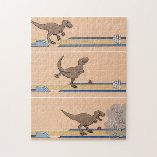 Tyrannosaurus Rex Bowling Jigsaw Puzzle Puzzles
