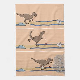 Tyrannosaurus Rex Bowling Kitchen Towel at Zazzle