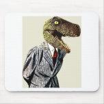 Tyrannosaurus Rex Business Man Mouse Pad