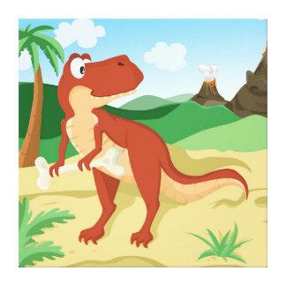 Tyrannosaurus Rex Stretched Canvas Prints