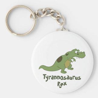 Tyrannosaurus Rex Cartoon Basic Round Button Keychain