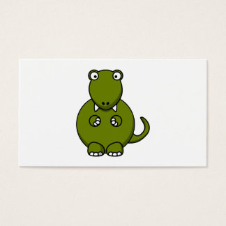 Tyrannosaurus Rex Cartoon Business Card