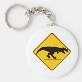 Tyrannosaurus rex crossing keychain