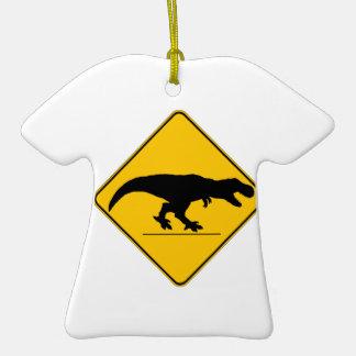 Tyrannosaurus rex crossing ornaments