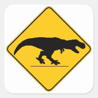 Tyrannosaurus rex crossing square sticker