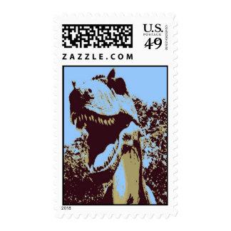 Tyrannosaurus Rex del arte pop Sellos