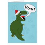 Tyrannosaurus Rex del navidad Tarjetas
