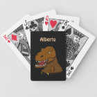Tyrannosaurus Rex Dino Personalized Playing Cards