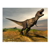 Tyrannosaurus rex dinosaur - 3D render Postcard