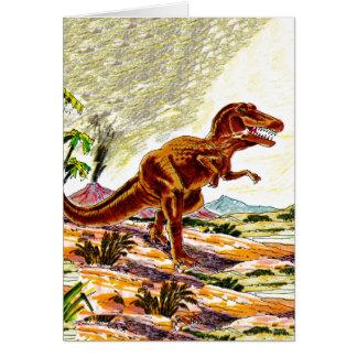 Tyrannosaurus Rex Dinosaur Card