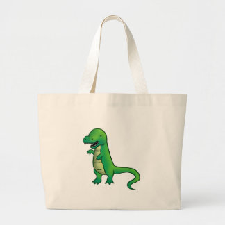 Tyrannosaurus Rex Dinosaur cartoon Canvas Bags