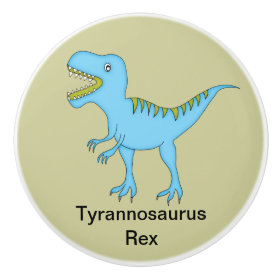 Tyrannosaurus Rex Dinosaur Ceramic Knob