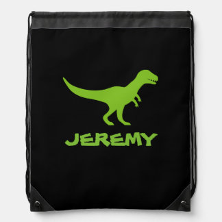 Tyrannosaurus Rex dinosaur drawstring bag for kids