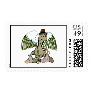 Tyrannosaurus Rex Dinosaur Explorer with Text Postage Stamps