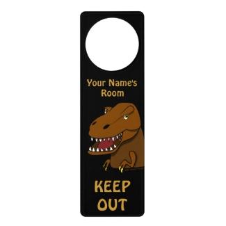 Tyrannosaurus Rex Dinosaur Lover Kids Door Sign