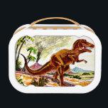 "Tyrannosaurus Rex Dinosaur Lunch Box<br><div class=""desc"">Artist: William Charles | Tyrannosaurus Rex dinosaur exploring the open field.</div>"