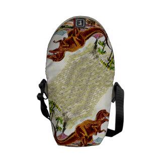 Tyrannosaurus Rex Dinosaur Messenger Bags