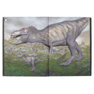 "Tyrannosaurus rex dinosaur mum and baby- 3D render iPad Pro 12.9"" Case"