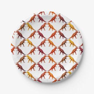 Tyrannosaurus Rex Dinosaur Paper Plates