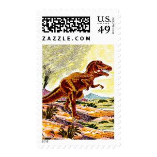 Tyrannosaurus Rex Dinosaur Postage Stamp