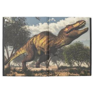 "Tyrannosaurus rex dinosaur protecting its eggs iPad pro 12.9"" case"