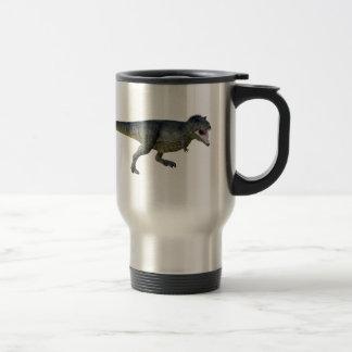 Tyrannosaurus Rex Dinosaur Running in Profile Travel Mug