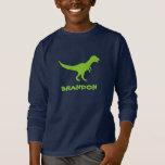 Tyrannosaurus rex dinosaur shirt with kids name