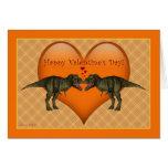Tyrannosaurus Rex Dinosaur Valentine's Day Card
