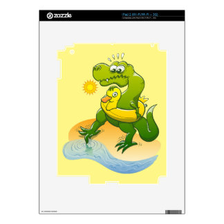 Tyrannosaurus Rex Dipping a Toe in Water Decal For iPad 2