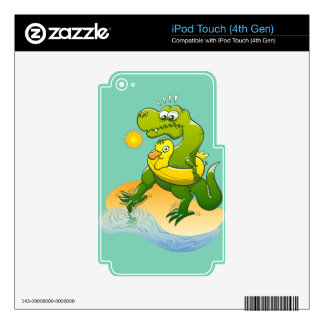 Tyrannosaurus Rex Dipping a Toe in Water iPod Touch 4G Skin
