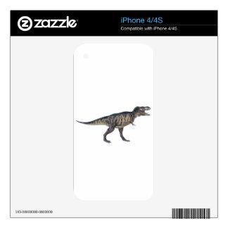 Tyrannosaurus Rex en perfil lateral iPhone 4 Calcomanía