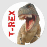 Tyrannosaurus Rex Etiqueta Redonda