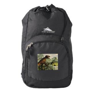 Tyrannosaurus rex fighting against styracosaurus high sierra backpack