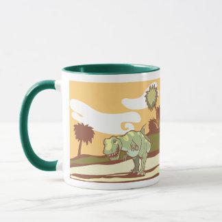 Tyrannosaurus Rex in nature. Mug