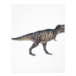 Tyrannosaurus Rex In Side Profile Letterhead