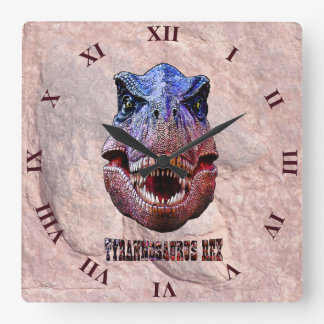 Tyrannosaurus Rex King Of Predators Square Wall Clock