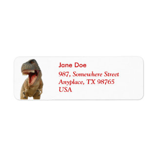 Tyrannosaurus Rex Label