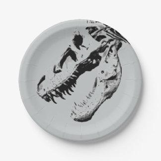 Tyrannosaurus rex paper plate