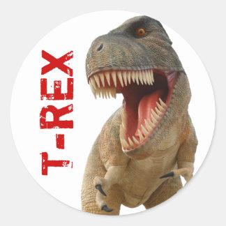 Tyrannosaurus Rex Pegatina Redonda