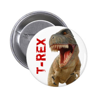 Tyrannosaurus Rex Pin Redondo De 2 Pulgadas