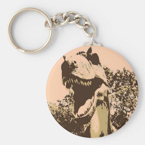 Tyrannosaurus Rex Pop Art Keychains