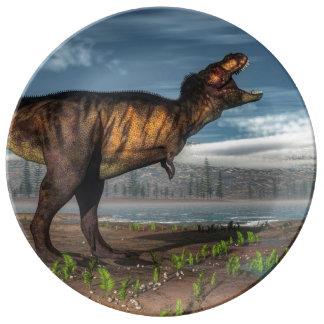 Tyrannosaurus rex porcelain plate