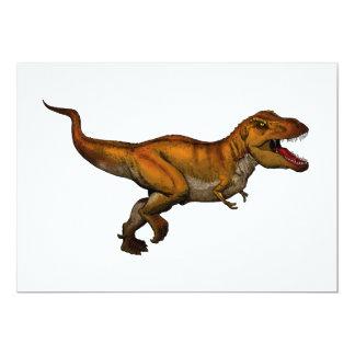 "Tyrannosaurus Rex que corre T-Rex Invitación 5"" X 7"""